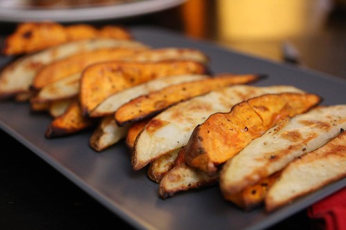 Regular and Sweet Potato Oven Fries