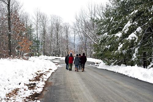 snowy, pre-turkey walk