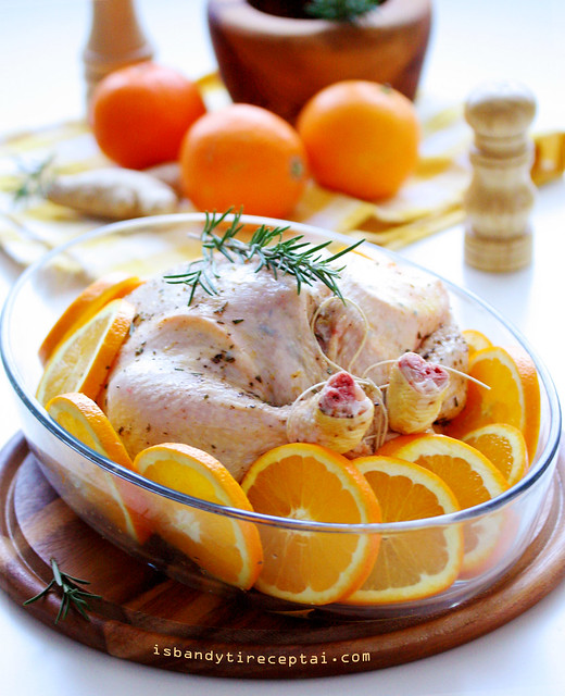 Roasted orange chicken