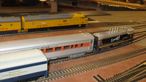 Passenger terminal switching at the Oak Park Society of Model Engineers, H.O Scale Model Railroad Club.  Oak Park Illinois USA. November 2011. by Eddie from Chicago