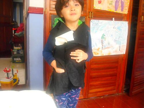 Saco de vestir para niño