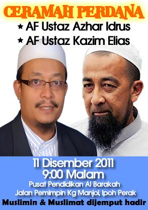 Ceramah Perdana Ustaz Azhar Idrus dan Ustaz Kazim Elias