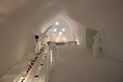 arch, white, snow, ice hotel, light, architecture,