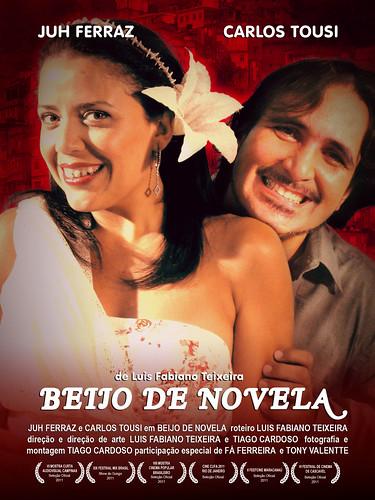 Cartaz Curta-Metragem: Beijo de Novela de Luis Fabiano Teixeira