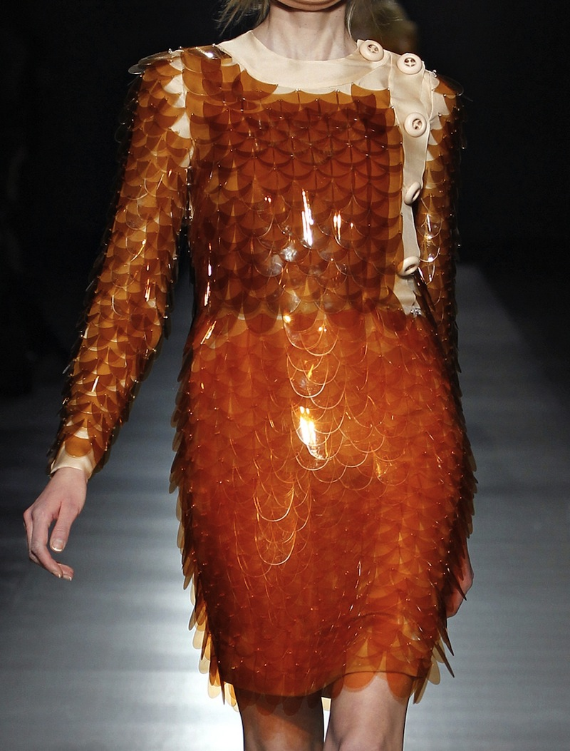 Prada plastic paillette scale dress FW2011 2