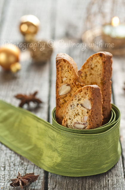 Almond biscotti with aniseed for Christmas