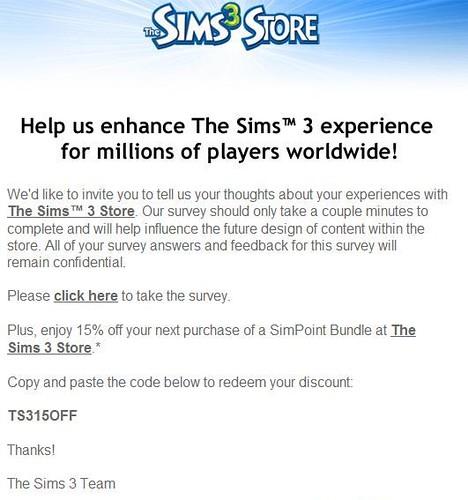 Sims 4 coupon code
