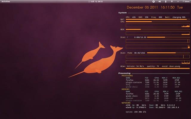 Conky, Ubuntu, Linux, Ubuntulandia, Quantal Quetzal, Raring Ringtail
