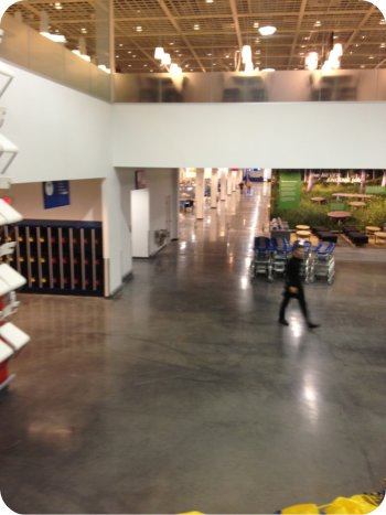A view inside the new Ikea in Ottawa