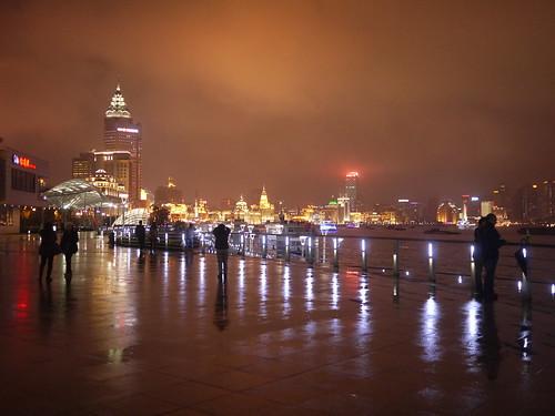 上海外滩的夜景