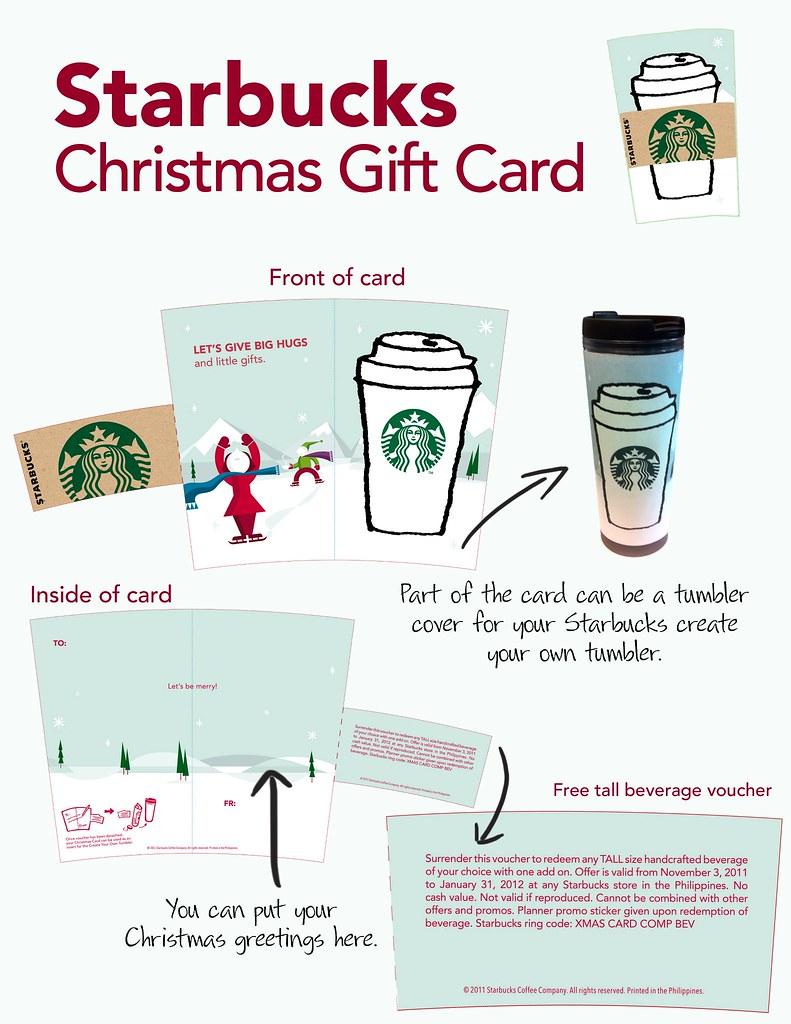 Starbucks Christmas Gift Card