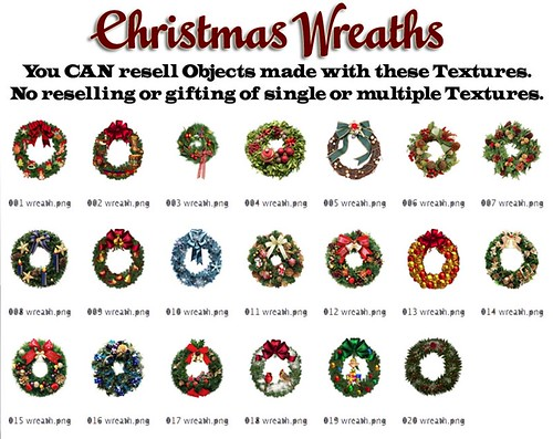 Shabby Chic Christmas Wreath Textures by Shabby Chics