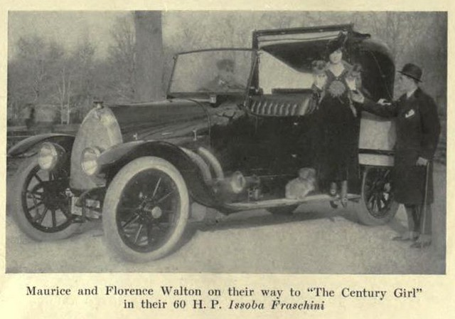 Maurice and Florence Walton with their Isotta Fraschini 1917