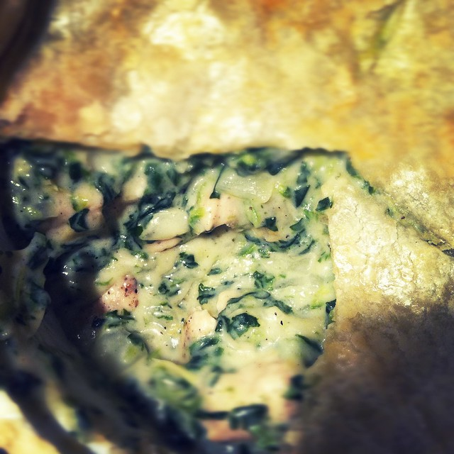 Oh My Pancake!: Spinach Artichoke Chicken Pot Pie