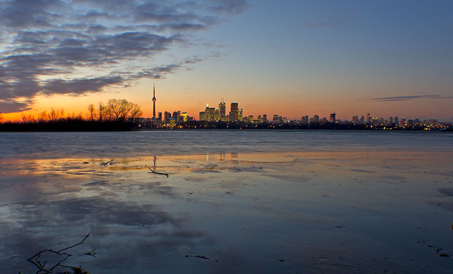 Leslie Spit Sunset.