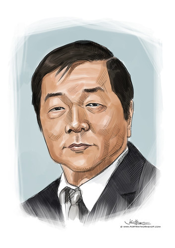digital portrait of Mr Ng Kim Foo (Wushu)
