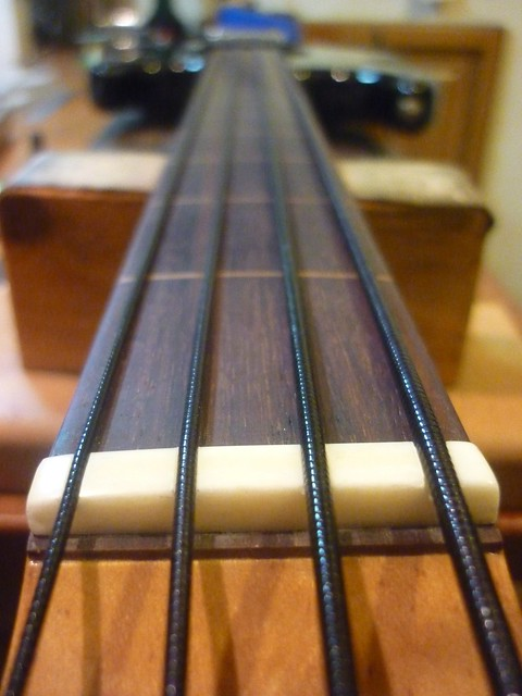 nylon tape wound bass strings a nice alternative to flat wounds and great on a fretless bass. Black Bedroom Furniture Sets. Home Design Ideas