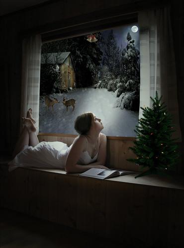 無料写真素材, グラフィック, フォトレタッチ, 行事・イベント, クリスマス, 子供  女の子