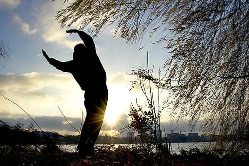 Seitneigen beim Qi Gong an der Alster by Christian Northe