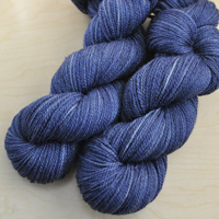 """Clear Night"" on Silk/Merino"