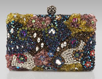 Moyna Crystal Box Clutch
