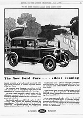 1930 Ford (Model A) De Luxe Fordor Saloon Ad (England)