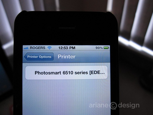 HP Photosmart 6510 printing from an iPhone4