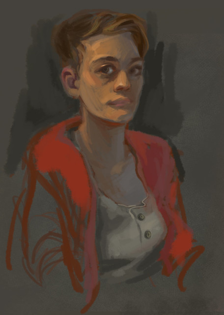 Painting Study 2 - self portrait