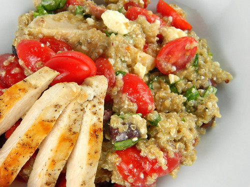 Quinoa & Chicken Greek Salad