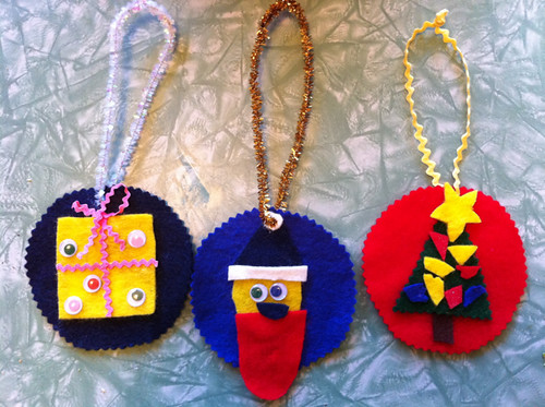 Rowan's felt ornaments