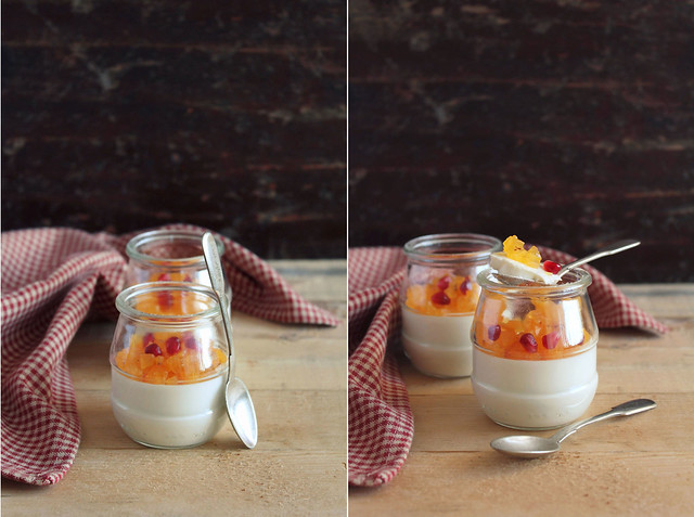 Persimmon&Honey Panna Cotta