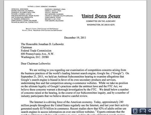 Google FTC onderzoek oneerlijke concurrentie