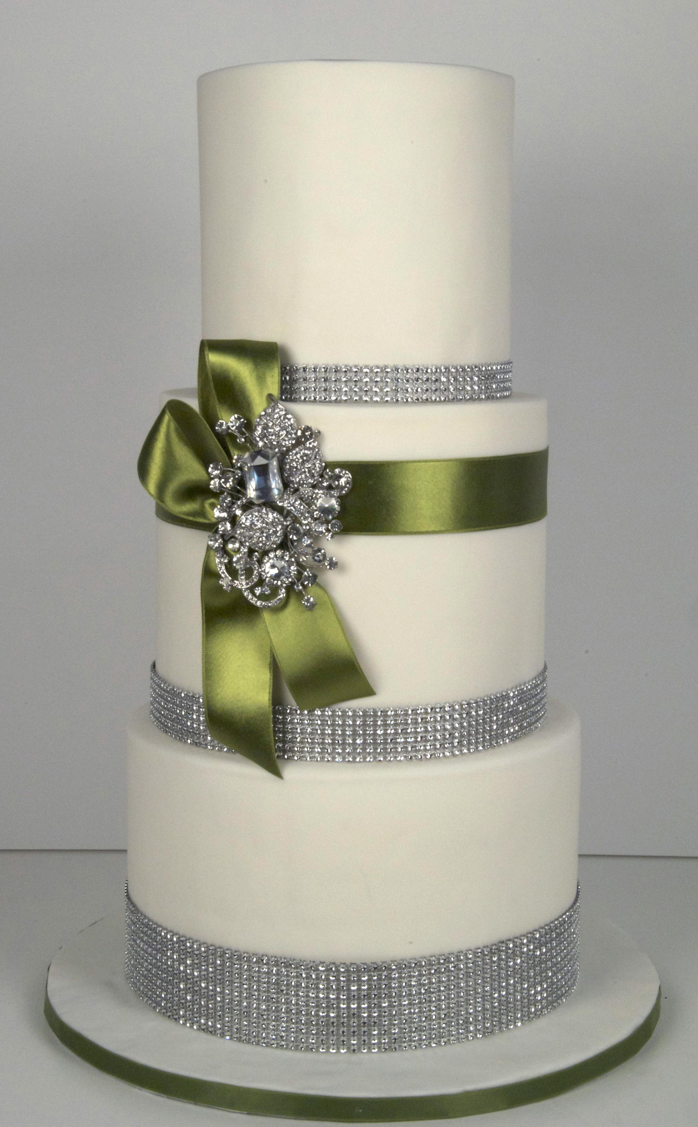 W9091 bling wedding cake
