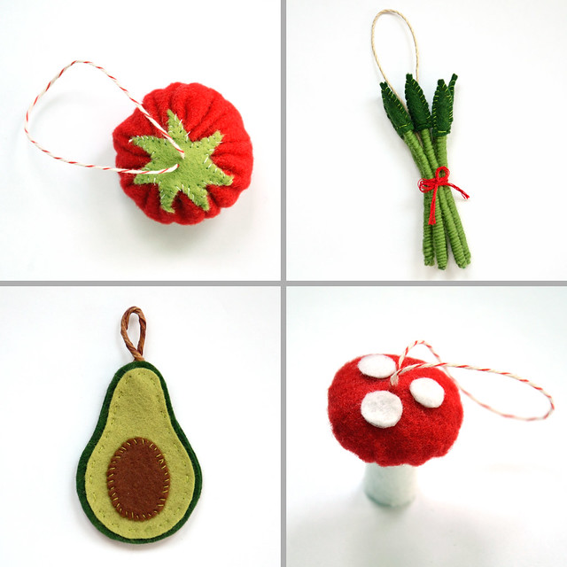 felt food ornaments