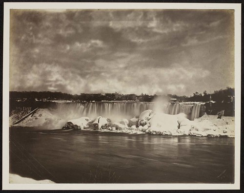 American Falls in winter, Niagara Falls, New York by Art Matters