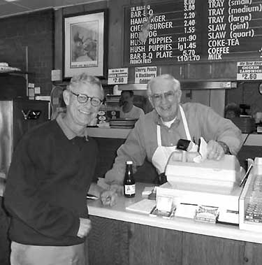 Kepleys-BW-Terry-with-Bob-Burleson-at-Keplys-BBQ-Bar-B-Q-High-Point