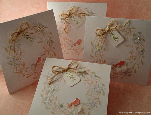 Winter Snowflake card set