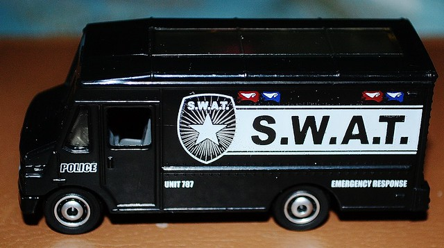 Toy Swat Trucks http://www.flickr.com/photos/thetreatment/6573554025/