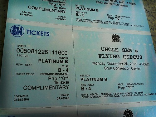 Got our tickets for the uncle sam flying circus by popazrael
