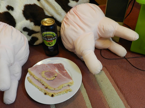 Snack time - ham and cider