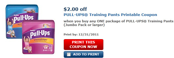 Pull-ups Training Pants (jumbo Pack Or Larger) Coupon