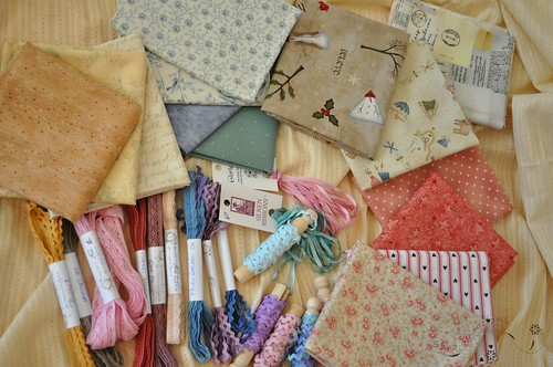 fabrics, ribbons, laces - materiale, panglici, dantele