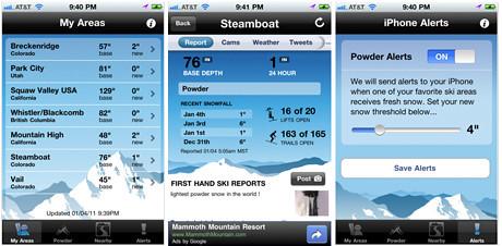 ski report app final