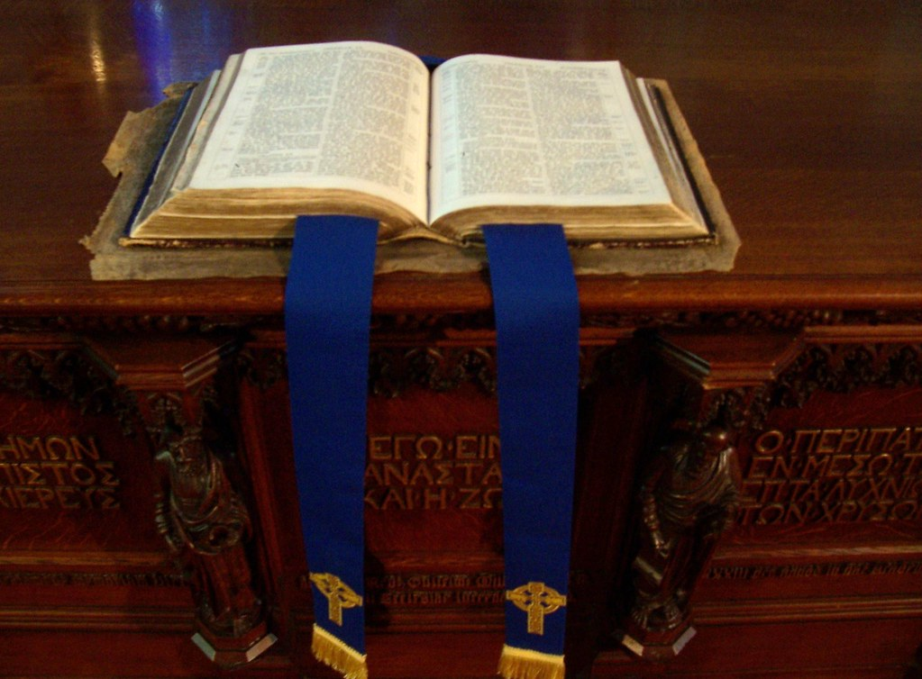 Holy Bible, The Authorised Version, Kings College Chapel, Old Aberdeen, Aberdeen, December 2011