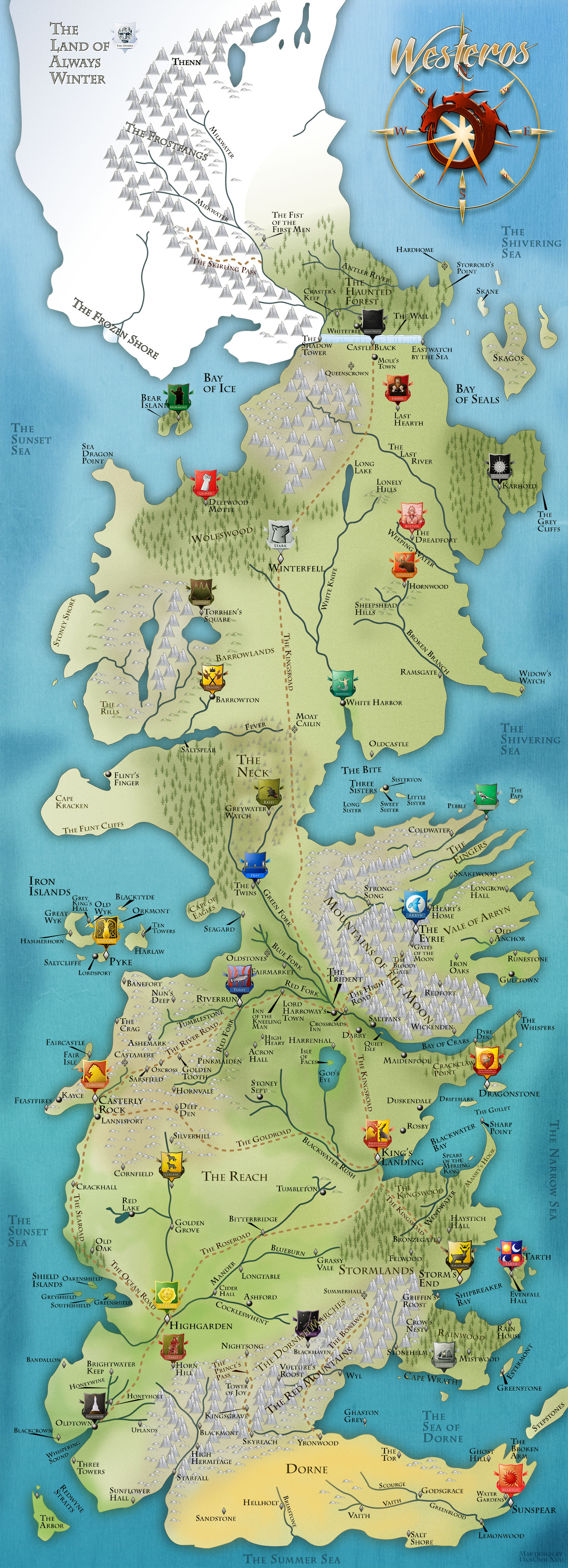 Westeros Map there needs to be a game of thrones risk ... |Westeros Map
