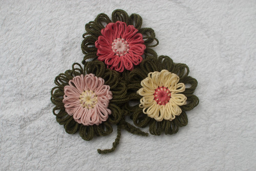 Three flower loom flowers