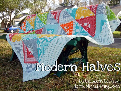 Introducing: Modern Halves quilt tutorial