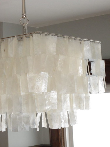 West Elm Capiz Shell Chandelier