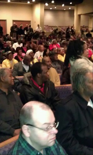 Crowds at Tabernacle Missionary Baptist Church in Detroit attending a rally in opposition to the imposition of an emergency manager. The mass meeting was held on January 2, 2012. (Photo: Abayomi Azikiwe) by Pan-African News Wire File Photos