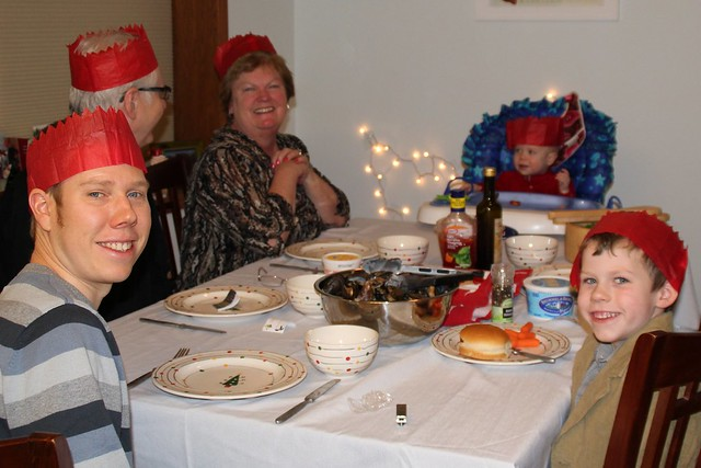 Christmas Dinner with crackers